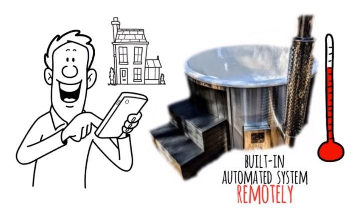 pellet hot tub heater